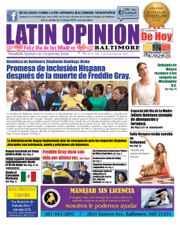 edicion 248 - Latin Opinion Baltimore Newspaper