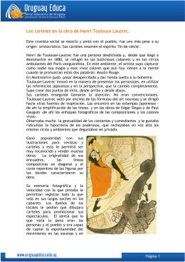 Los carteles en la obra de Henri Toulouse Lautrec.