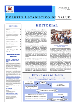 BOLETIN OEI 2, MINSA - Ministerio de Salud