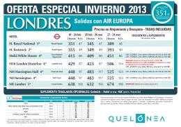 OFERTA EspEciAl inviERnO 2013 precio final