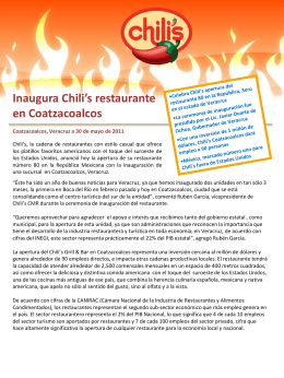Descarga - Restaurantes Chili`s México