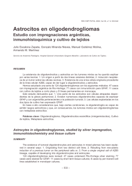 Astrocitos en oligodendrogliomas