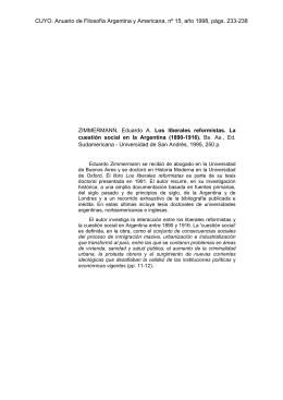 CUYO. Anuario de Filosofía Argentina y Americana, nº 15, año 1998