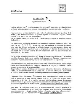 LETRA CAF - Centro de Estudios Angélicos
