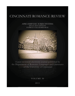 Volume 30 (2011) - Cincinnati Romance Review