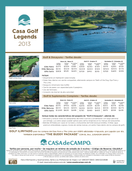 Casa Golf Legends 2013 ESP