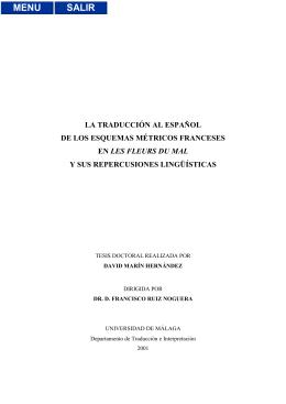 la traducción al español de los esquemas métricos