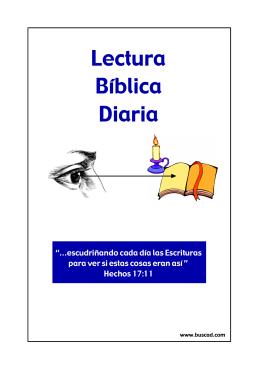 Lectura Bíblica Diaria