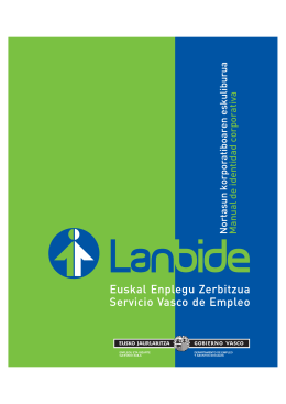 Manual de identidad corporativa de Lanbide
