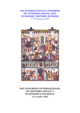 13th INTERNATIONAL CONGRESS OF OTTOMAN SOCIAL AND