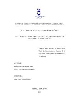 FACULTAD DE FILOSOFÍA LETRAS Y CIENCIAS DE LA