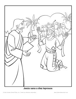 Jesús sana a diez leprosos