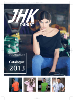 CATALOGO GENERAL JHK 2013