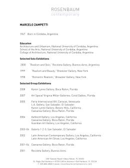 MARCELO ZAMPETTI - Rosenbaum Contemporary