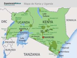 Mapa de Kenia y Uganda