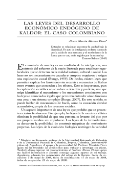 las leyes del desarrollo económico endógeno de kaldor