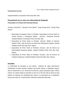 Presentación de un caso con enfermedad de Kawasaki