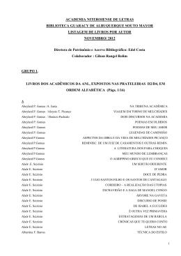Livros por autor - PDF - Academia Niteroiense de Letras