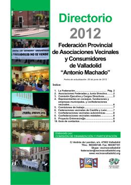 DIRECTORIO VECINAL 2012 - Federación de Asociaciones