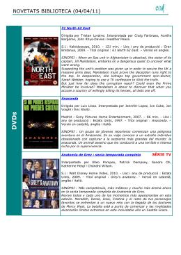 D V D s - Escola Oficial d`Idiomes de Lleida