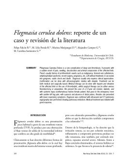 Flegmasia cerulea dolens - Hospital Clínico Universidad de Chile