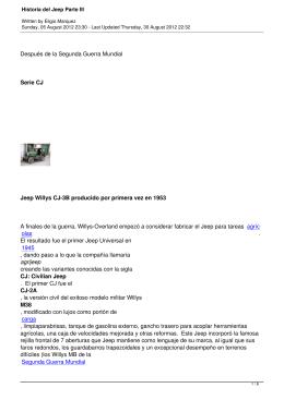 Historia del Jeep Parte III