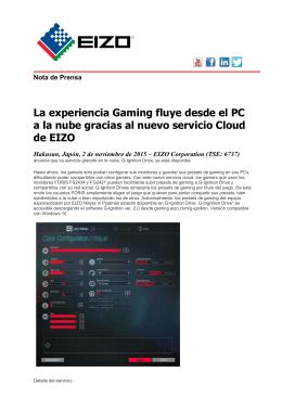 La experiencia Gaming fluye desde el PC a la nube gracias al