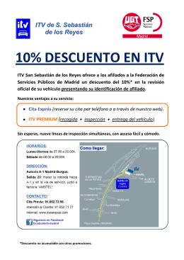 10% DESCUENTO EN ITV