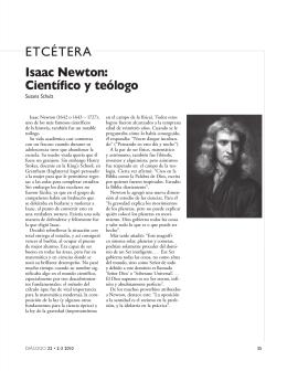 ETCÉTERA Isaac Newton: Científico y teólogo