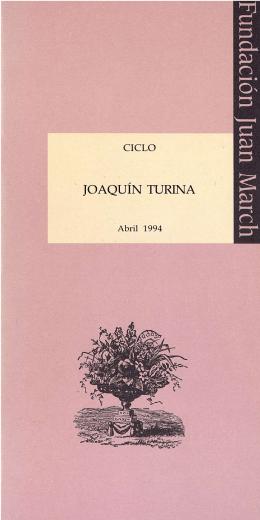 JOAQUÍN TURINA - Fundación Juan March