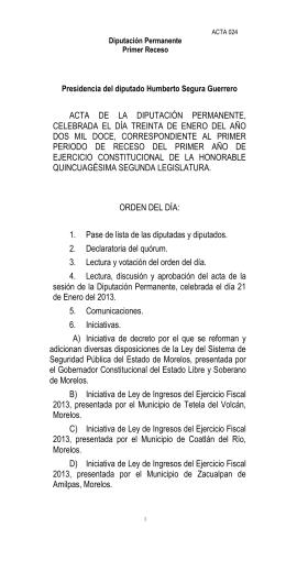 PRESIDENCIA DEL DIPUTADO JOSÉ SIGONA TORRES