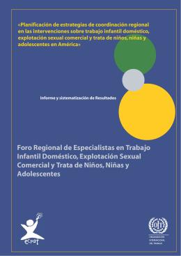 Foro regional de especialistas en trabajo infantil doméstico