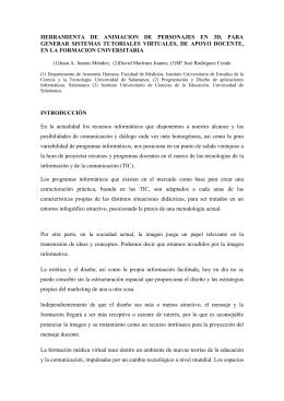 HERRAMIENTA DE ANIMACION DE PERSONAJES EN 3D, PARA