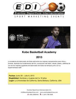 Kobe Basketball Academy 2013