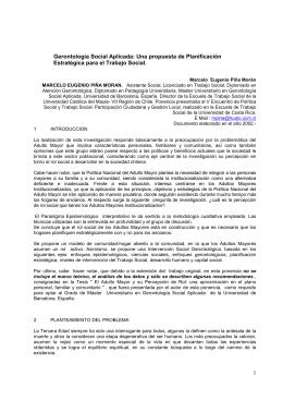 Gerontología Social Aplicada - Red Latinoamericana de Gerontología