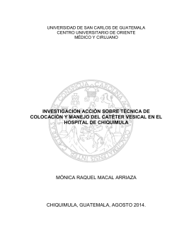 investigación acción sobre técnica de colocación y