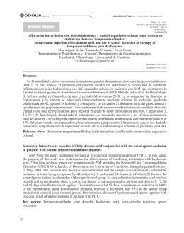 Terapia de infiltración intrarticular con ácido hialurónico en conjunto
