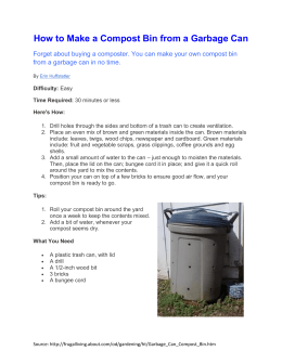 How to Make a Compost Bin from a Garbage Can