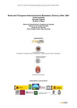 Actas del II Congreso Internacional de Sinestesia, Ciencia y Arte. 2007
