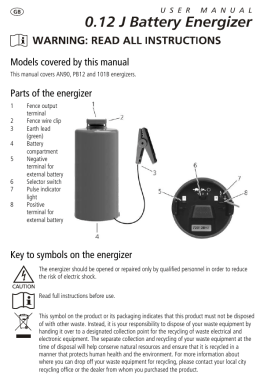 0.12 J Battery Energizer User Manual