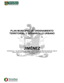 JIMÉNEZ - Secretaría de Desarrollo Urbano y Medio Ambiente