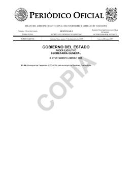 Jiménez - Periodico Oficial