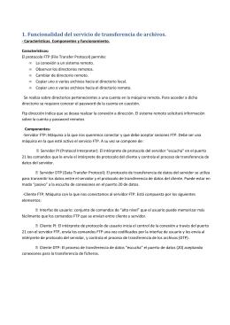 Resumen tema 5 - Administración de sistemas informáticos y redes