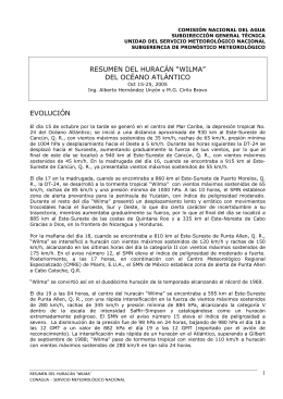 Wilma - Servicio Meteorológico Nacional. México.