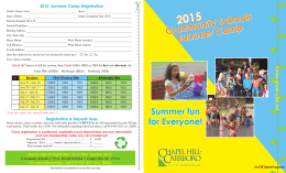 2015 Community Schools Summer Camp