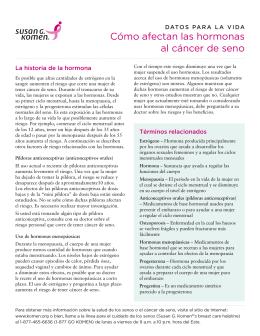 Cómo afectan las hormonas al cáncer de seno
