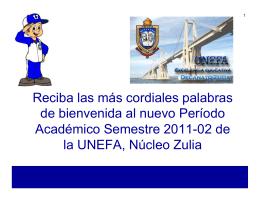 Bienvenida Docente Semestre 2011-02