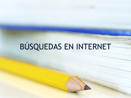 Manual de Búsqueda por internet