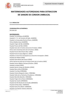 listados de todas las maternidades (públicas y privadas)