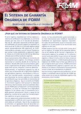 El Sistema de Garantía Orgánica de IFOAM